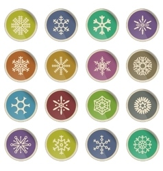 Snowflakes simply icons vector