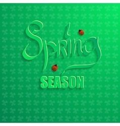 Spring season on a green background vector