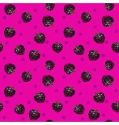 Funny bright seamless pattern with blackberries vector