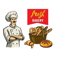 Chef and bakery vector