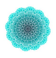 Abstract design black white element round mandala vector