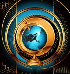 ancient globe background vector image vector image