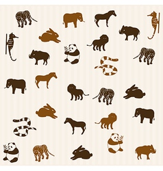 Animal seamless pattern 3 vector image