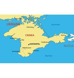 Autonomous Republic of Crimea - map vector image vector image