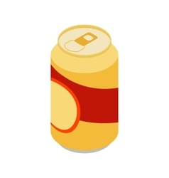 Beer can icon isometric 3d style vector
