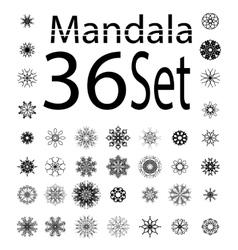 Contour mandala isolated vector