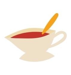 Cup of fresh hot tea vector image vector image