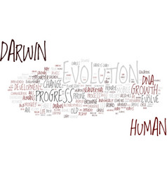 Evolution word cloud concept vector
