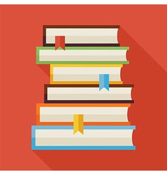 Flat Reading Books Knowledge with Shadow vector image vector image