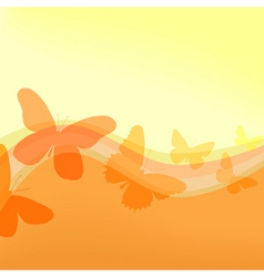 flutterby vector image vector image