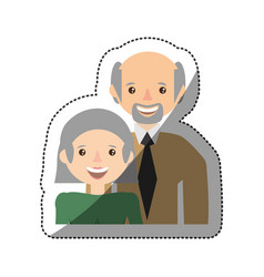 Grandparents smiling together member vector