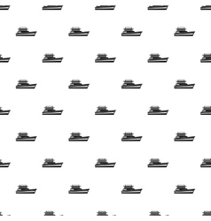 Great powerboat pattern simple style vector