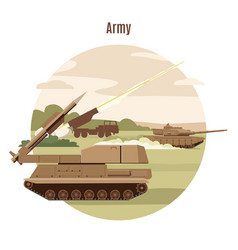 Ground military transport template vector