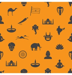 India country theme symbols seamless color pattern vector