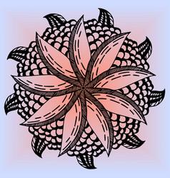Mandala flower lemon for adults vector
