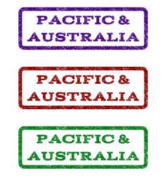 Pacific australia watermark stamp vector