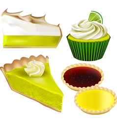 Patisserie collection - lime and lemon vector