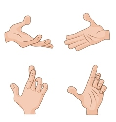 Set of cartoon Hands Icons for vector image vector image