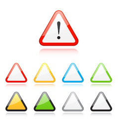 set of triangle warning signs vector image vector image
