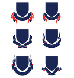 Shields and banners vector