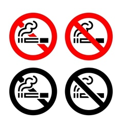 Signs set - No smoking vector image vector image