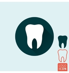 Tooth icon isolated vector image