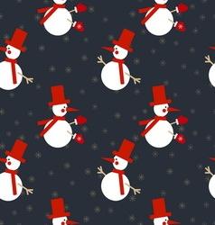 Xmas snowmen pattern vector image