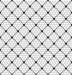 Net lace with dot vector