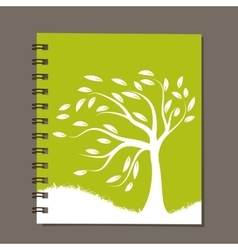 Notebook abstract tree design vector image