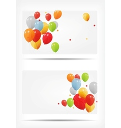 Gift card with balloons vector