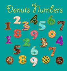 Colorful donuts numbers vector