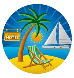 Beach travel vector