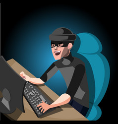 hacker internet computer security technology vector image