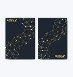 Template for brochure leaflet flyer vector