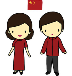 Chinese traditional dress vector
