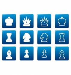 Chess square icons vector