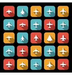 icons of airplanes vector image