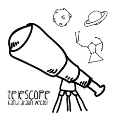 Telescope drawn vector