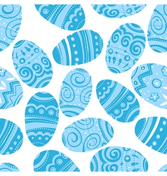 Seamless easter blue pattern vector