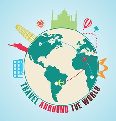 Travel arround the world vector