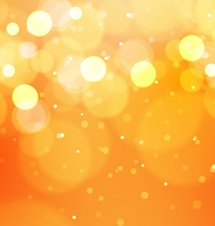 Abstract bokeh lights on orange background vector