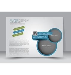 Landscape billboard flyer or brochure template vector