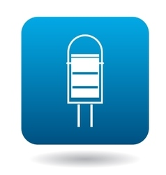 Outdoor bin icon in simple style vector