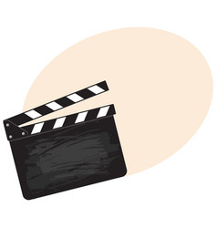 blank cinema production black clapper board vector image vector image