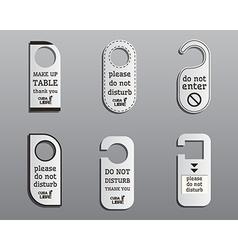 Brand identity elements- door knob or hanger sign vector