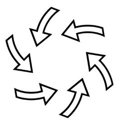 Cyclone arrows contour icon vector