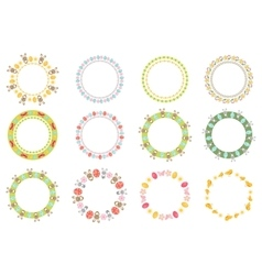 Easter round frame for your text set Isolated on vector image