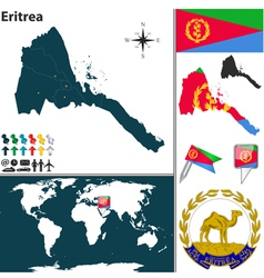 Eritrea map world vector image