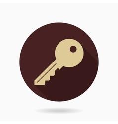 Fine key flat icon vector
