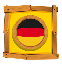 Germany flag on square frame vector